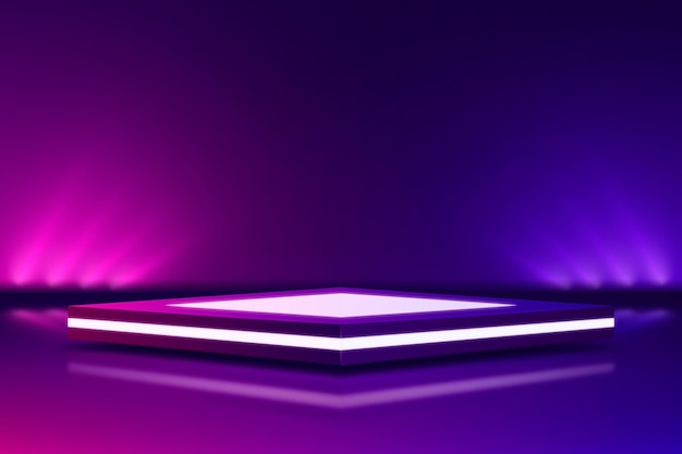 Abstracte neonlichten achtergrondstijl Premium Vector