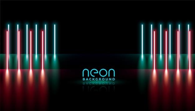 Abstracte neonlichten verticale lijnen Gratis Vector