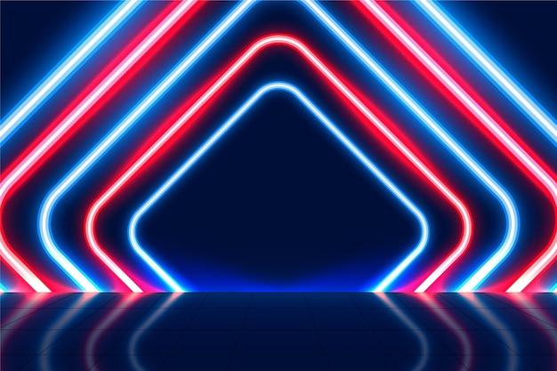 Abstracte neonlichtenachtergrond Premium Vector