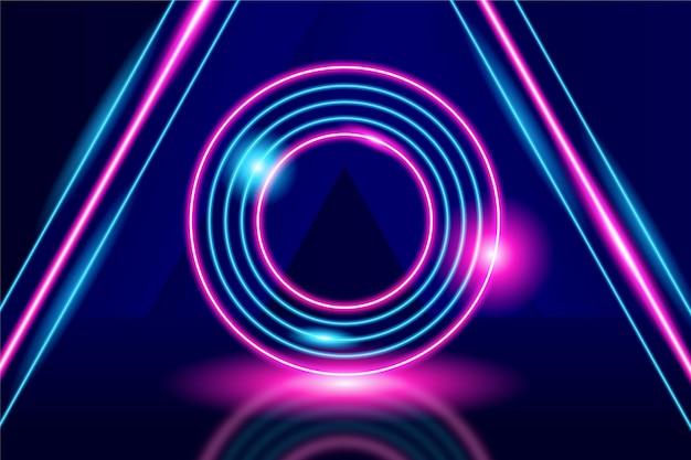 Abstracte neonlichtenachtergrond Gratis Vector