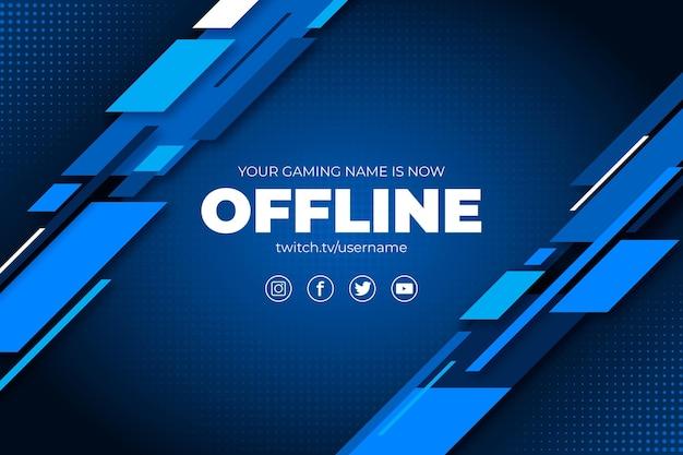 Abstracte offline twitch-bannerstijl Gratis Vector