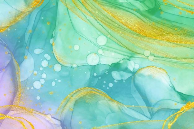 Abstracte olieachtige achtergrondkleuren Gratis Vector