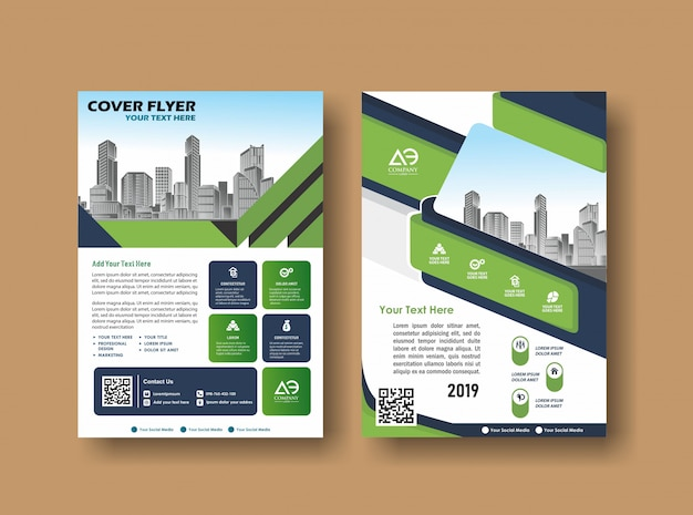 Abstracte omslag en lay-out voor presentatie en marketing Premium Vector