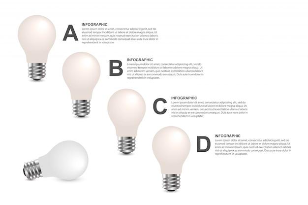 Abstracte opties infographics sjabloon. Premium Vector