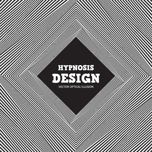 Abstracte optische illusie. zwart-witte achtergrond van golvende strepen Premium Vector