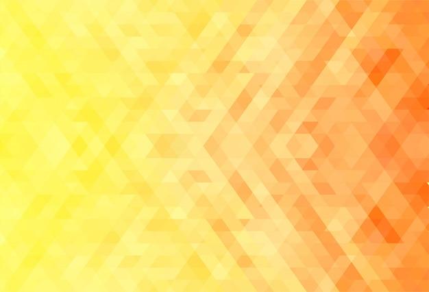 Abstracte oranje en gele geometrische vormenachtergrond Gratis Vector