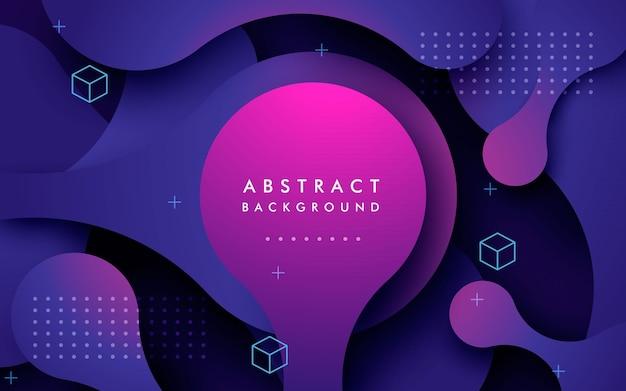 Abstracte paarse beweging lagen achtergrond Premium Vector