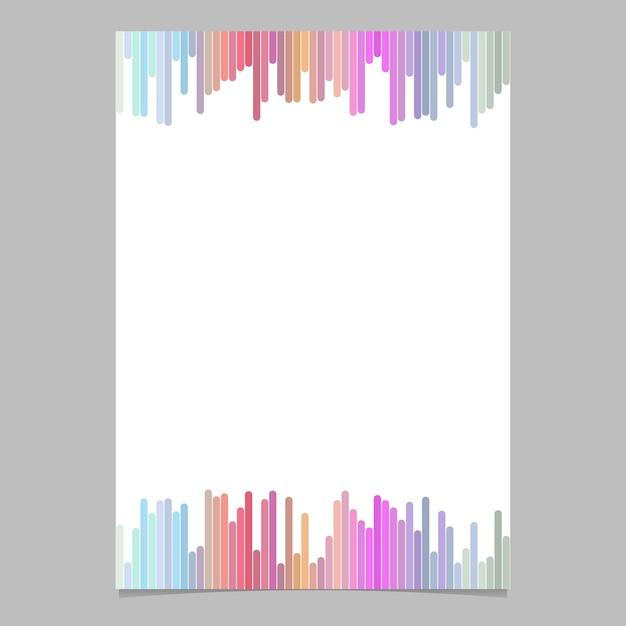 Abstracte pagina sjabloon van verticale strepen - vector brochure illustratie met witte achtergrond Gratis Vector