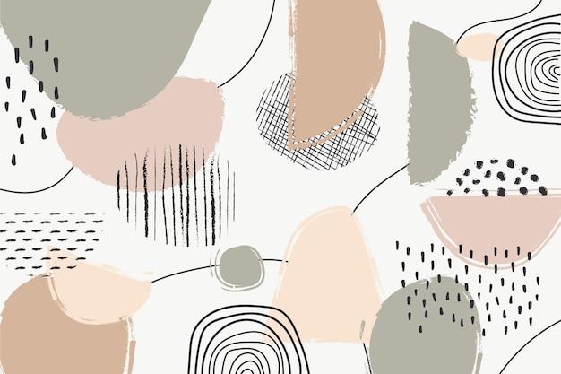 Abstracte pastel achtergrond concept Gratis Vector