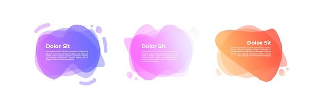 Abstracte pastel gradient banners Premium Vector