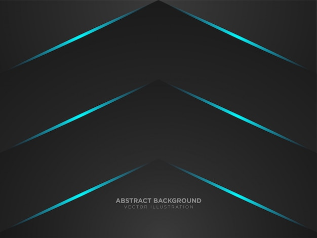 Abstracte pijl omhoog metallic zwarte kleur lay-out moderne tech Premium Vector