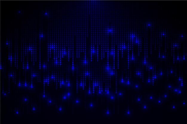 Abstracte pixel regen achtergrond Gratis Vector