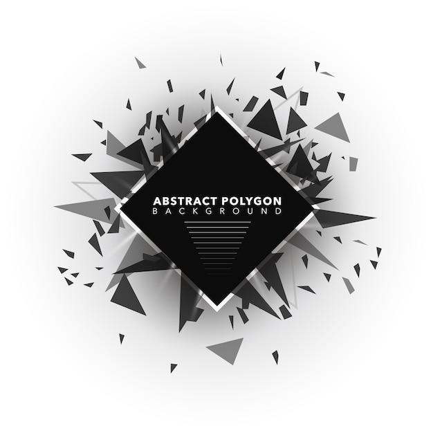 Abstracte polygoonachtergrond Gratis Vector