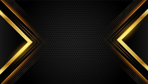 Abstracte premium zwarte en gouden geometrische achtergrond Gratis Vector