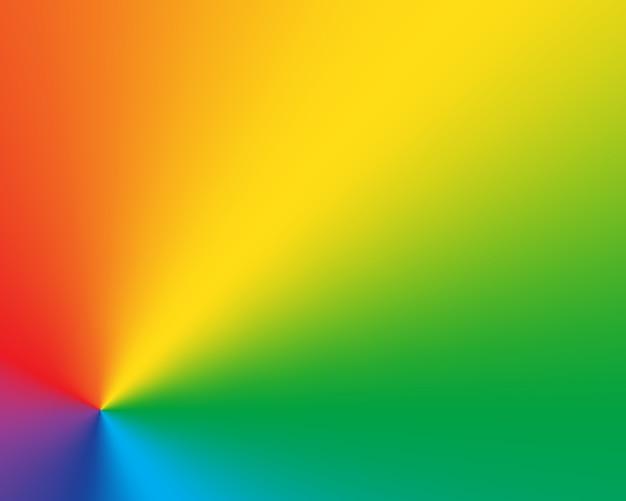 Abstracte radiale gradiënt regenboog achtergrond Premium Vector