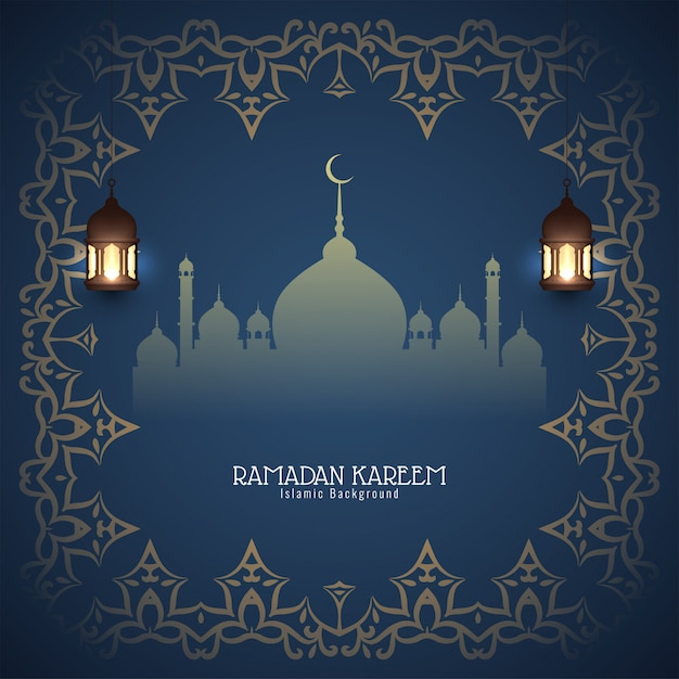 Abstracte ramadan kareem islamitische achtergrond Gratis Vector