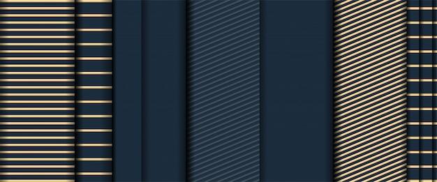 Abstracte realistisch van gouden textuur overlappen lagen donkere achtergrond Premium Vector