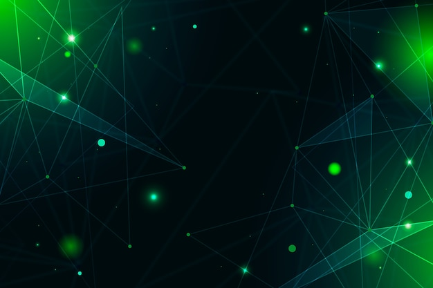 Abstracte realistische technologie deeltje screensaver Gratis Vector