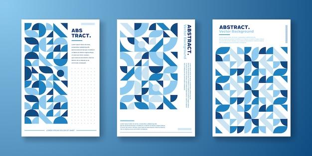Abstracte retro geometrische achtergrond. Premium Vector