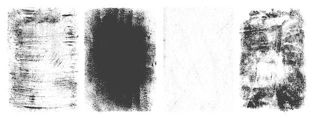 Abstracte retro geplaatste grungekaders Gratis Vector
