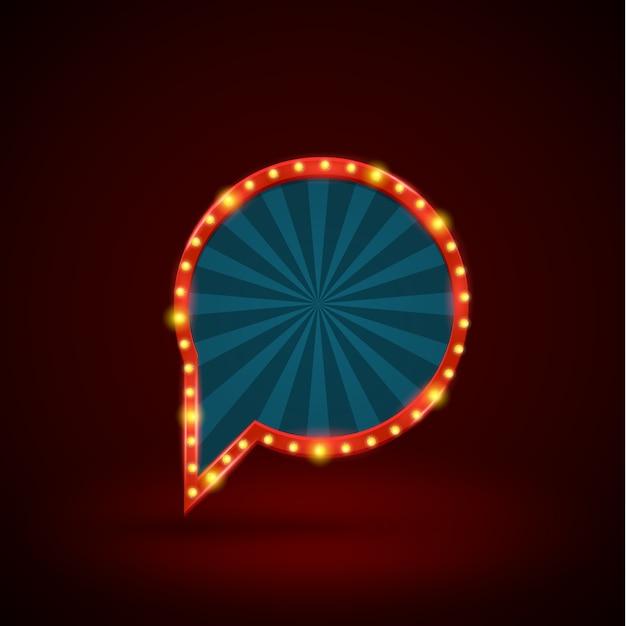 Abstracte retro lichte cirkelbanner Premium Vector