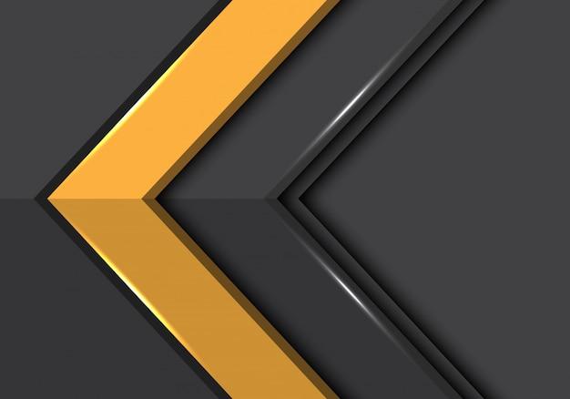 Abstracte rode grijze pijl met lege ruimte van de richtingontwerp moderne futuristische stijl vectorillustratie als achtergrond. Premium Vector