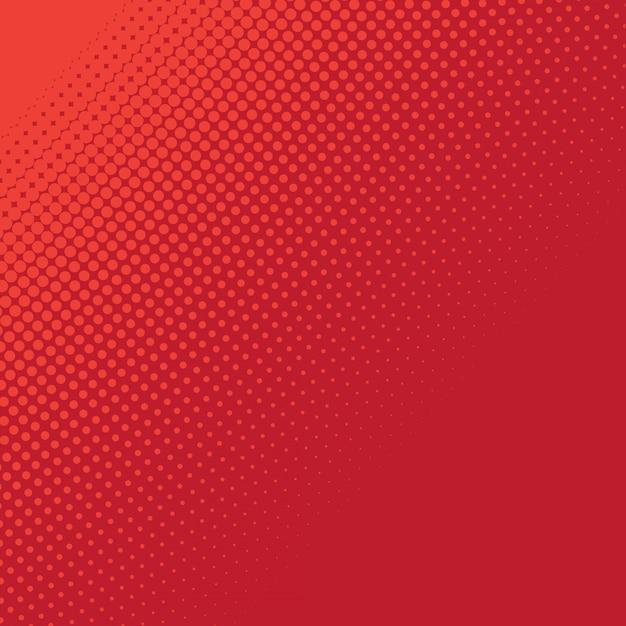 Abstracte rode halftone achtergrond Premium Vector