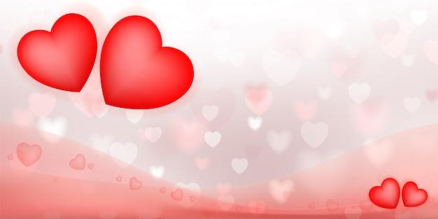 Abstracte rode hartachtergrond. Premium Vector