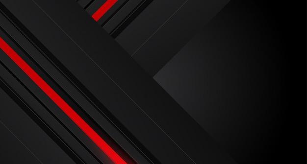 Abstracte rode pijl op het donkergrijze ontwerp van het cirkelnetwerk Premium Vector