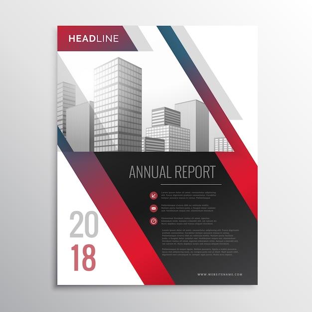abstracte rode zakelijke brochure flyer ontwerp vector template Gratis Vector