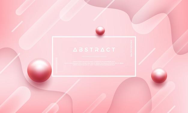 Abstracte roze achtergrond met mooie parels Premium Vector