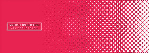 Abstracte roze en witte gestippelde bannerachtergrond Gratis Vector