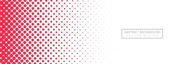 Abstracte roze gestippelde bannerachtergrond Gratis Vector