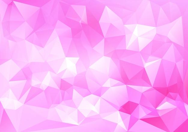 Abstracte roze lage veelhoek achtergrond Gratis Vector