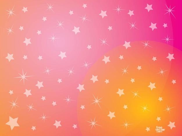 Abstracte roze sterren achtergrond vector Vector  Gratis Download