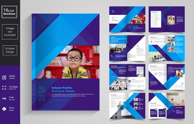 Abstracte school kids handoutsjabloon Premium Vector