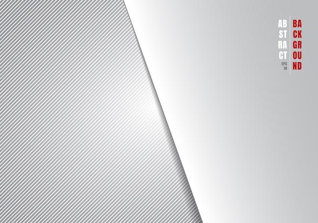 Abstracte sjabloon gestreepte diagonale lijnen Premium Vector