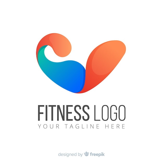 Abstracte sport fitness logo of logo sjabloon Gratis Vector