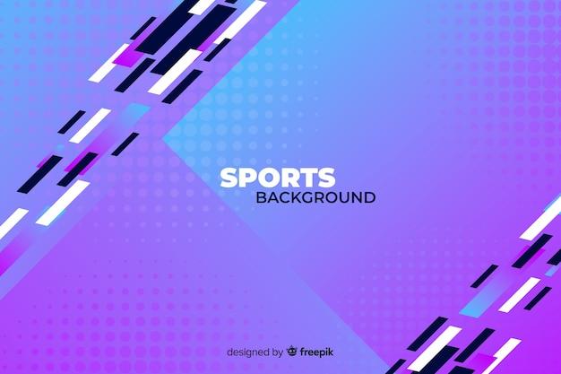 Abstracte sportachtergrond in koud gekleurde vormen Gratis Vector