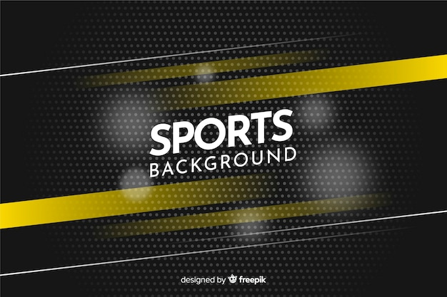 Abstracte sportachtergrond met gele strepen Premium Vector