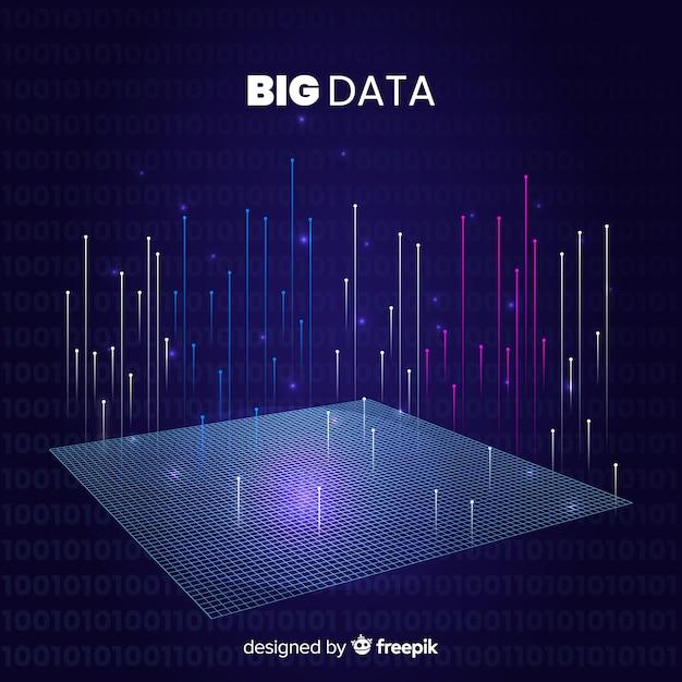 Abstracte stijl big data-achtergrond Gratis Vector