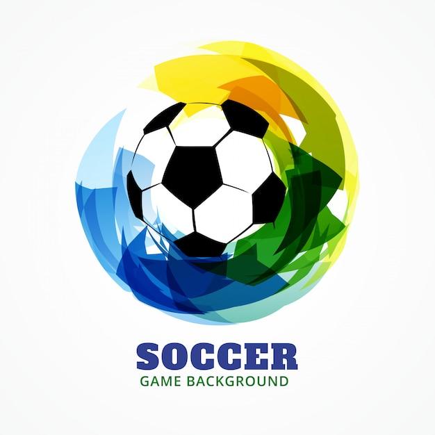 Abstracte stijl voetbal spel achtergrond Premium Vector