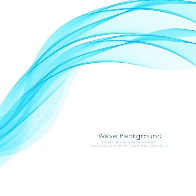 Abstracte stijlvolle blauwe golf achtergrond Gratis Vector