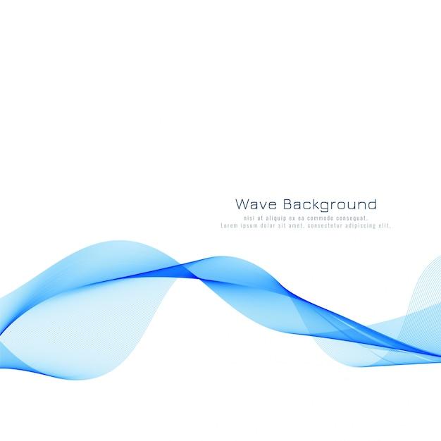 Abstracte stijlvolle blauwe golfachtergrond Gratis Vector