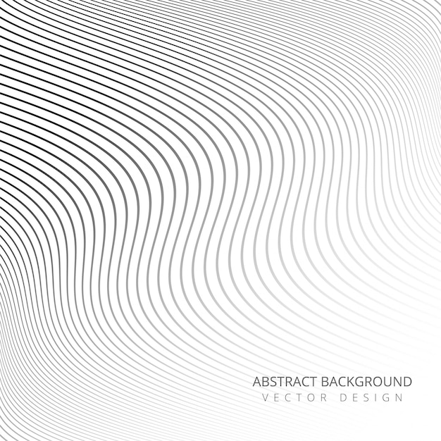 Abstracte stijlvolle elegante lijnen achtergrond Gratis Vector