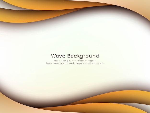 Abstracte stijlvolle golf achtergrond Gratis Vector
