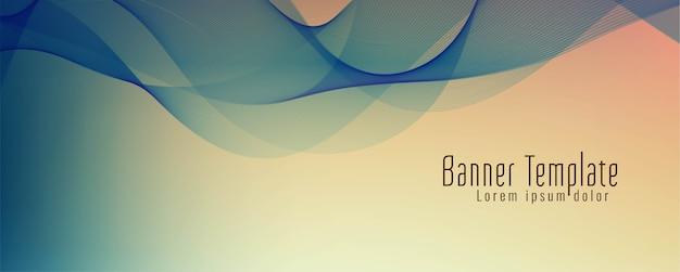 Abstracte stijlvolle golf banner ontwerp vector Gratis Vector
