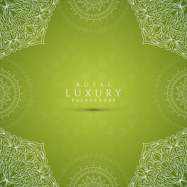 Abstracte stijlvolle luxe groene achtergrond Gratis Vector