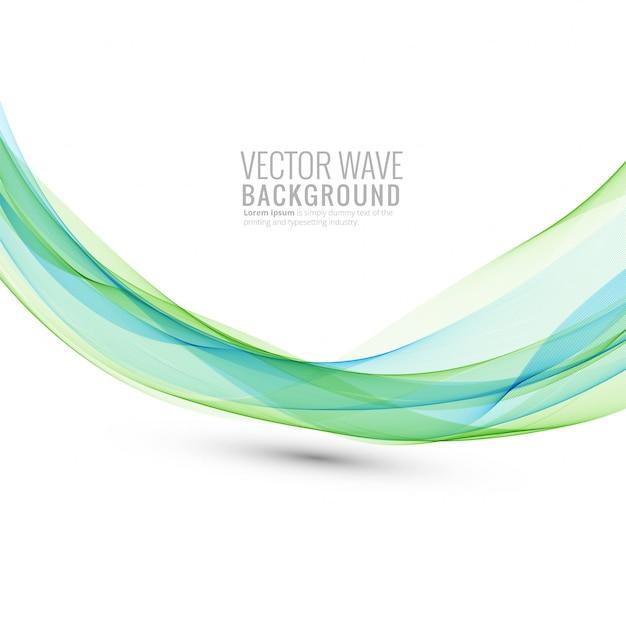 Abstracte stromende bedrijfsgolf op witte achtergrond Gratis Vector