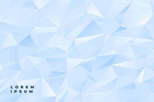 Abstracte subtiele lichtblauwe of witte lage polyachtergrond Gratis Vector